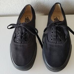 Vans all black sneakers sz. Womens 9